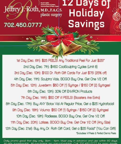 """""""12 DAYS OF HOLIDAY SAVINGS"""" STARTS THURS. DEC. 6TH!"""