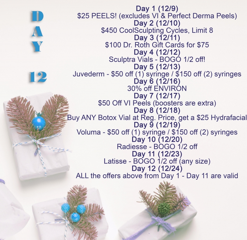 """Dr. Roth's """"12 Days of Holiday Savings"""" ON NOW!!"""