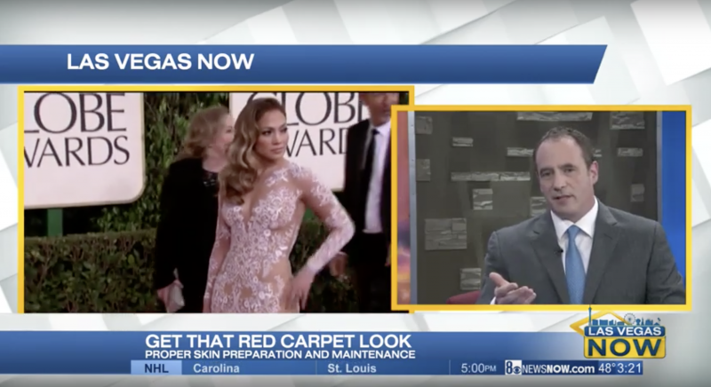 "Dr. Roth on CBS' ""Las Vegas Now"" discussing being red carpet ready for Oscar"